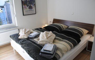 Ferienwohnung Blaues Haus I Schlafzimmer