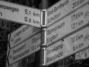 Schild Fahrradstreckenkl